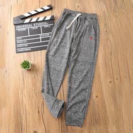 Cotton Flannel Pants Australia - Children's casual sports pants cotton fabric breathable comfort super wild 19 summer tide practical thin sectioncute
