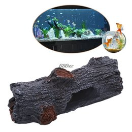 fishing ornament Australia - Polyresin Simulation Tree Aquarium Decoration Trunk Wood Fish Tank Ornament N27 Drop Ship