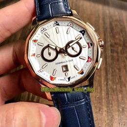 $enCountryForm.capitalKeyWord Australia - New Superior Quality Admiral's Cup AC-ONE 42 A116 02597 White Date Dial Automatic Mens Watch Rose Gold Case Leather Strap Sport Watches