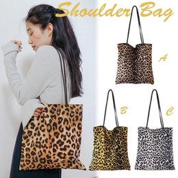 $enCountryForm.capitalKeyWord Australia - Leopard Print Shoulder Tote Bag Vintage Fashion Simple Canvas Shoulder Bags Handbags Large Storage Handbag Hand Bag For Women