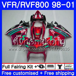honda vfr interceptor fairings Australia - Body For HONDA Interceptor VFR800R VFR800 Movistar red 1998 1999 2000 2001 259HM.42 VFR 800RR VFR 800 RR VFR800RR 98 99 00 01 Fairing kit