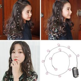 $enCountryForm.capitalKeyWord Australia - new Korean version of the pearl hairpin girl hair accessories children's beauty tools flower clip hair band new listing