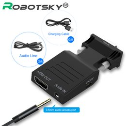$enCountryForm.capitalKeyWord Australia - VGA to HDMI Adaptor Converter Female to Male with Audio Power Adapter Support 1080P Signal VGA to HDMI Audio 5V DC