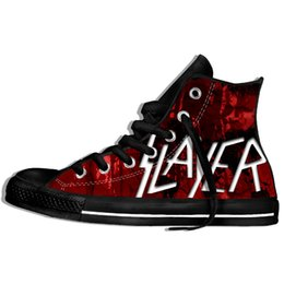 $enCountryForm.capitalKeyWord Australia - 2019 Hot Fashion Printing High Top Metal Band Slayer Unisex Lightweight Casual Shoes