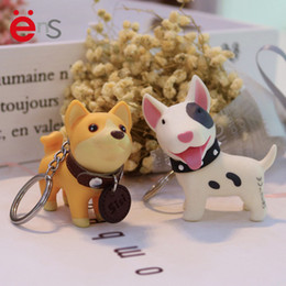 resin pvc NZ - Exquisite Cute Dog Keychain PVC Environmental Protection Natural Resin Doll Keychain Car Bag Accessories Gift