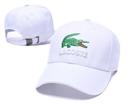 Hot baseball Hats online shopping - Designer Hats Caps Men Baseball Cap for Mens Womens Brand Cap Adjustable Crocodile Embroidery Hats Superior Quality colors New Hot