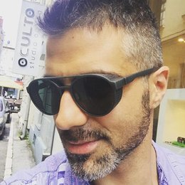 $enCountryForm.capitalKeyWord Australia - Vintage Men Steampunk Sunglasses Women Retro Goggles Round Flip Up Glasses Steam Punk Eyewear Z094