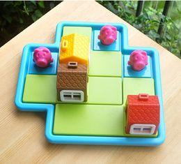 $enCountryForm.capitalKeyWord Australia - Intelligence toys suzakoo Montessori Cartoon pig-wolf seek and hide game intelligence puzzle toy logic thinking training