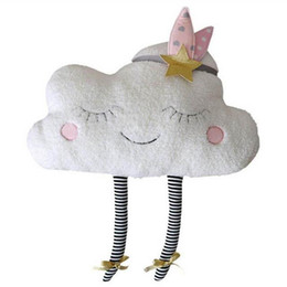 Toy Room Decor NZ - Baby Romantic Clouds Pillow with French Words Plush Toys Cute Cartoon Clouds Pillow Cushion Baby Kids Room Decor Dolls HD