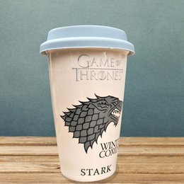 game cups Australia - Game of Thrones coffee mugs ceramic cups and mugs with cover Creative Drinkware