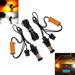 Led Light buLbs 1157 1156 online shopping - 2Pcs set Dual Color T20 LED Turn Signal Light Canbus Bulbs No Error For Auto Turn Signal Light DRL Bulbs