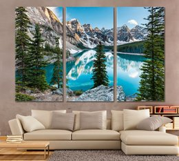 Modular hoMes online shopping - 3Pcs Mountain And Lake HD Paintings On The Wall Modern Canvas Painting Wall Art Modular Pictures for Living Room Home Decoration