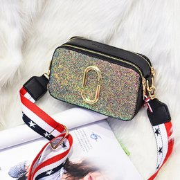 Silver Nylon Sequins NZ - 2019 new Korean version of fashion sequin small package.Burgundy, black, white patchwork zip bag.Simple woman's bag.