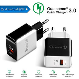 best iphone wall chargers UK - Best seller QC 3.0 Fast Charger EU US Plug Travel Charger 3.0 USB Wall Charger Adapter For Mobile Phone DHL