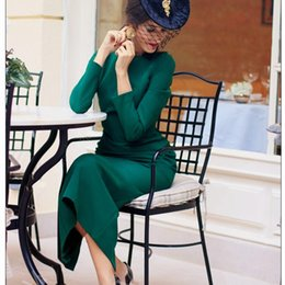 Green Tea Length Dresses Australia - 2019 elegant green satin mother's dresses simple long sleeves backless mother of the bride dresses custom tea length plus size evening gowns