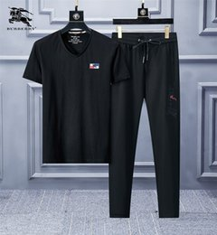 $enCountryForm.capitalKeyWord Australia - Sports New Pattern Man Tracksuit Lapel z115 And Short Sleeve Motion Trousers Korean Edition Embroidery Leisure 2019 Suit