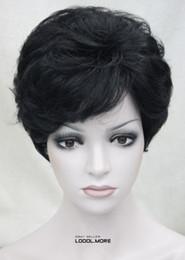 $enCountryForm.capitalKeyWord Australia - Cosplay Harajuku Anime Fashion Black Short Curly Women ladies Daily Synthetic Full Wig MSTLD218 for women wig