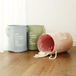 $enCountryForm.capitalKeyWord NZ - Eva Thick Double layer Laundry Bucket Letter Japanese style Pastoralism Cotton and Linen Folding Toy Storage Basket