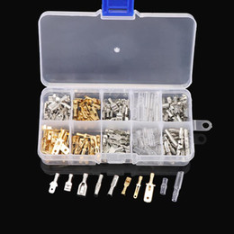 $enCountryForm.capitalKeyWord Australia - 150pcs Male and Female Car Spade Connector Splice Crimp Wire Terminals Assortment Kit with Insulating Sleeve for Motorcycle Bike