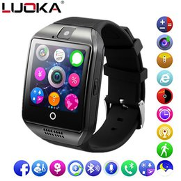 Bluetooth Smart Watch Sim Australia - LUOKA Bluetooth Smart Watch Q18 Support Sim TF Card Phone Call Push Message Camera Bluetooth Connectivity For IOS Android Phone