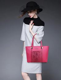 $enCountryForm.capitalKeyWord Australia - Women's handbags European and American style design crocodile pattern solid color six-piece composite bag lady casual shoulder bag wholesale