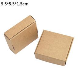 $enCountryForm.capitalKeyWord Australia - 50pcs lot 5.5*5.5*1.5cm Handmade Soap Baking Box Bakery Cakes Cookies Package Boxes Kraft Paper Pack Box DIY Gift Box for Jewelry Pearl