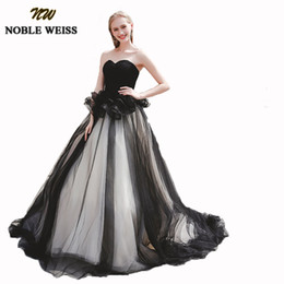 $enCountryForm.capitalKeyWord UK - Unique Two Colors Black Prom Dresses Puffy Tulle robes de soiree longue New Ball Gown Sweet 16 Pageant Gowns For Girls