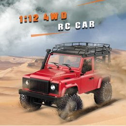 rc boxes NZ - MN-90 1 12 2.4G 4WD RC Car W  Front LED Light 2 Body Shell Roof Rack Crawler Monster Truck RTR Remote Control Car Toys