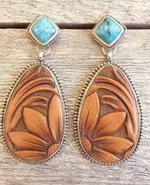 Turquoise chandelier earrings online shopping - 2019 New Arrival European and American Trendy Vintage Rhinestone Sunflower Exaggerated Female Dangle Stud Earrings E5706