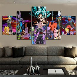 abstract oil prints Australia - Unframed 5 Panels HD print posters decorative painting murals oil painting abstract painting living room home decoration. Dragon Ball super