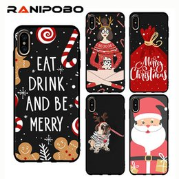 christmas iphone santa 2019 - Lovely Christmas Pattern Cartoon Phone Case For Iphone Xr Xs Max Santa Claus Elk Case For Iphone 6 6s 7 8 Plus Tpu Cover