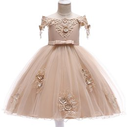 $enCountryForm.capitalKeyWord UK - First Communion Dress Summer Flower Girl Dresses For Weddings Birthday Kids Girl Clothes Children Clothing Baby Costume L5057 J190612