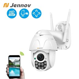 onvif wifi camera audio Canada - Jennov 1080P PTZ IP Camera Outdoor Dome Wireless Wifi Security Camera Two-way Audio 2MP Yoosee CCTV Network Surveillance ONVIF T191018