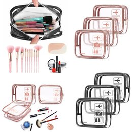 large pvc cosmetic bag 2019 - Transparent PVC Waterproof Toothbrush Cosmetic Bag Trend Large Capacity Storage Swimming Bag Make Up Organizer Storage P