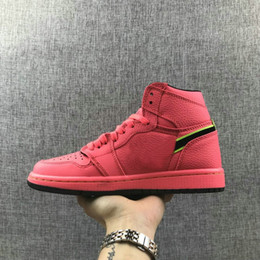 Shoe Samples Australia - 2019 new 1 Retro Hot Punch Volt SAMPLE youth big boy and girls basketball shoes Premium Hot Punch Damen Neu Lifestyle ladies  kids Sneakers