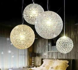 kitchen role Australia - Modern living room lamp bedroom lamp ceiling light is provided contracted eat droplight K9 crystal LED lamp ACTS the role of droplight ball