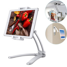 12 tablet pc Australia - Adjustable Kitchen Tablet Mount Stand 2-in-1 Kitchen Wall Tablet Mount Holder for 7-12 inch Tablet PC Mobile Phone for ipad for Samsung Tab