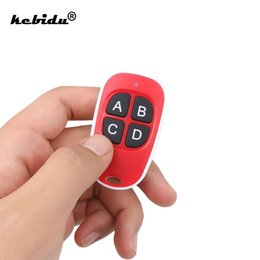 universal electronics NZ - Consumer Electronics kebidu Remote Control 433mhz Electric Cloning 4 Channel Copy Code Gate Garage Door Opener Key RF 433MHZ Duplicator
