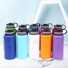 gym water bottles Australia - New 2019 Water Bottle Stainless Steel Insulated Portable Firm Durable Wide Mouth GYM Outdoors Sports 18oz  32oz 40oz With Lid T190923