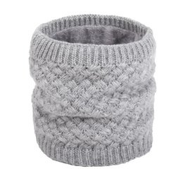 Velvet Scarves Wholesale Australia - Winter Warm Scarf Knitted Collar Scarf Solid Autumn,Winter Women and Men Velvet Comfortable Unisex Casual