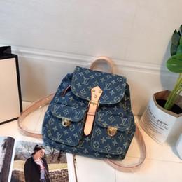 Styles Backpacks Australia - Top Quality womens backpack designer handbags denim backpack Style High capacity Fashion Bags