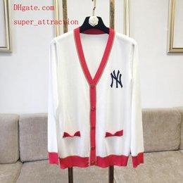 Ingrosso Cardigan donna manica lunga 2019 cardigan manica lunga outwear giacca lavorata a maglia da donna maglioni cardigan jacquard di fascia alta