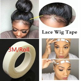 Glued hair extensions online shopping - 2Roll Wig Tape m Roll Salon Sticky Long Lasting Waterproof Hair Extension Adhesive Double Sided Tape Lace Glue Tape for Weft Wig no W