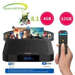 Tv Media Player Wifi Australia - 2019 wholesale M9S J2 Android 8.1 TV Box 4GB 32GB Smart 4K TV Box RK3328 Quad Core CPU Support 2.4G Wifi USB 3.0 ott tv IPTV Media Player