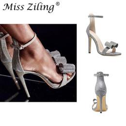 Woman Fans Australia - Sexy2019 Shoeswomanwish European Fan Shuizuan Will Bow High-heeled Shoes One Word Bring Sandals