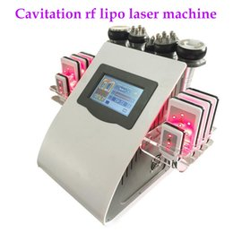 spa slim machine vacuum NZ - 40k Ultrasonic liposuction Cavitation 8 Pads 6 in 1 LLLT lipo Laser Slimming Machine Vacuum RF Skin Care Salon Spa Equipment DHL Free Ship