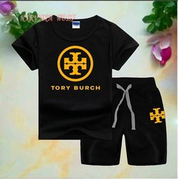 $enCountryForm.capitalKeyWord Australia - Kids Sets 1-7T Kids T-shirt And Short Pants 2Pcs sets Baby Boys Girls 95% Cotton Astronaut Design Printing Style Summer Sets