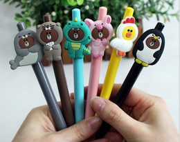 cartoon press Australia - Best selling gel pens Korean Creative Cartoon Neutral Pen Cute Animal Press Black Pen Student Stationery Gift219