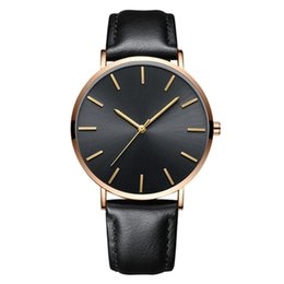 thin leather watch for women NZ - Men Women Watches Ultra Thin Leather Luxury Casual Quartz watch for man mens watch slim mens wristwatches
