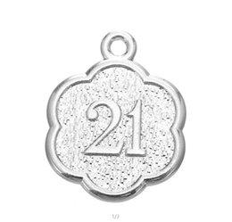 Myshape Vendita all'ingrosso, Vendita al dettaglio, Moda, Giorni da ricordare Numero 21 25 Ciondoli anniversario anniversario Charms 20pcs all'ingrosso
